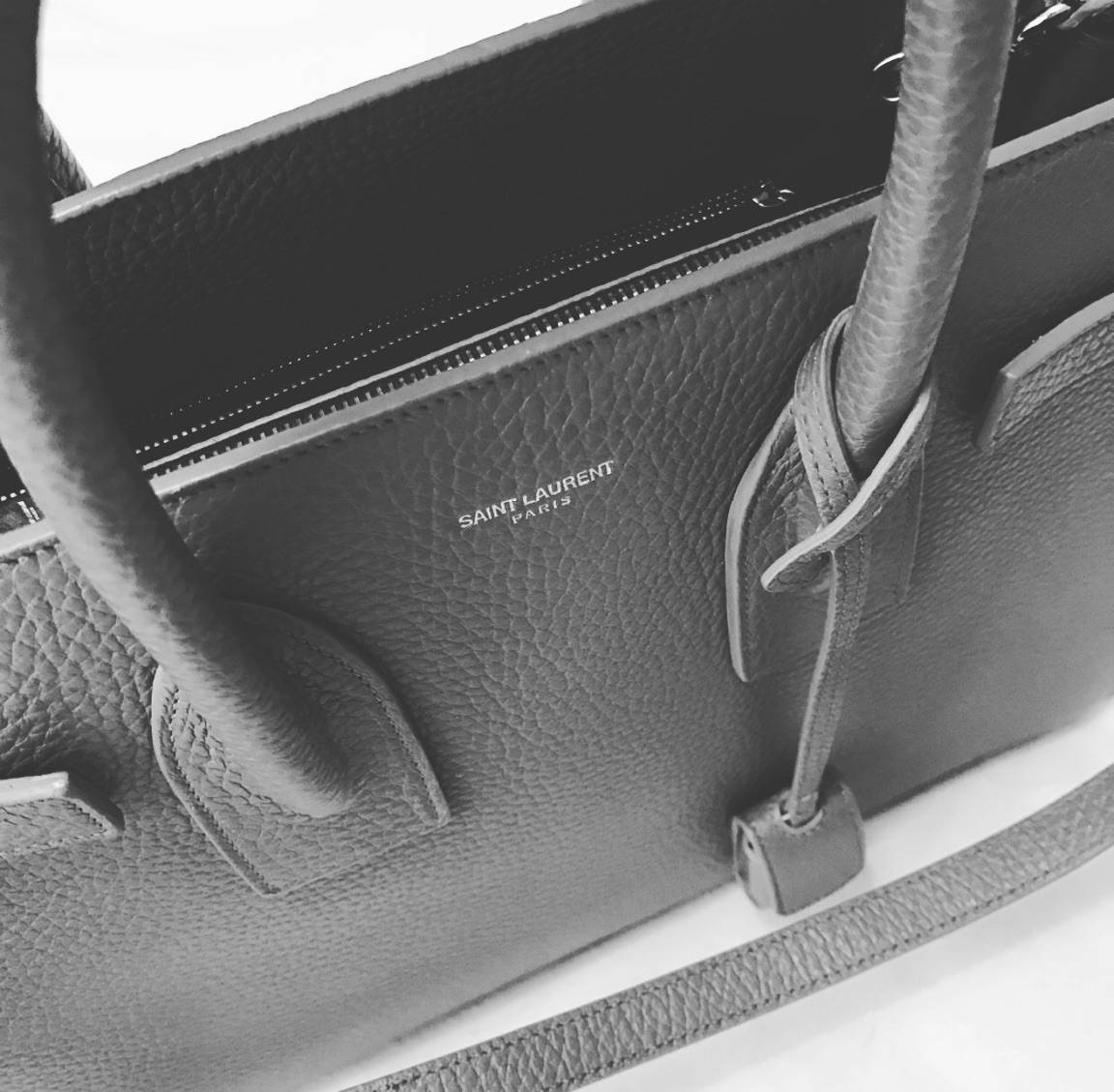 Saint Laurent Classic Sac de Jour in Fog Grained Leather