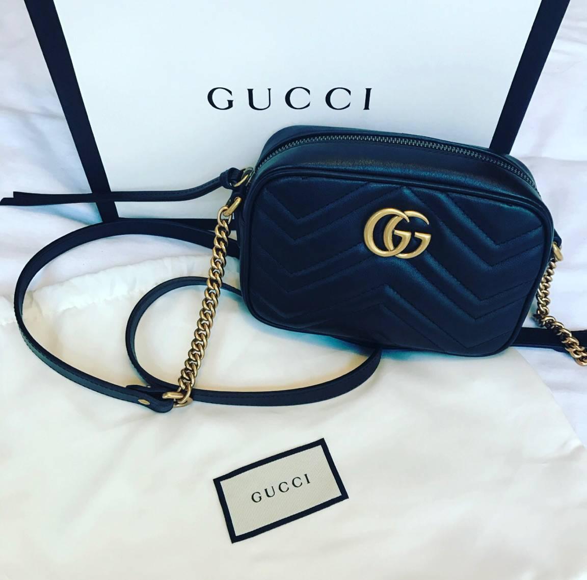 b5eeaa0950fe Gucci GG Marmont Matelassé Mini Handbag Unboxing