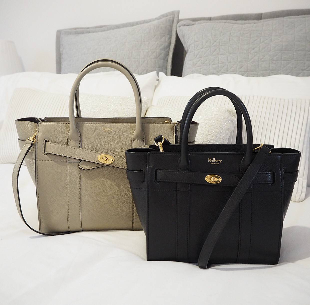 d2213af97e25 The Mulberry Zipped Bayswater Small vs Mini Comparison